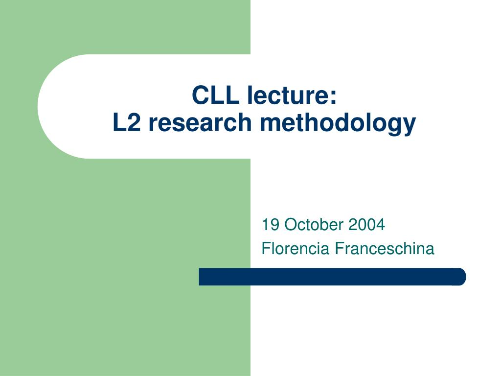 CLL lecture: