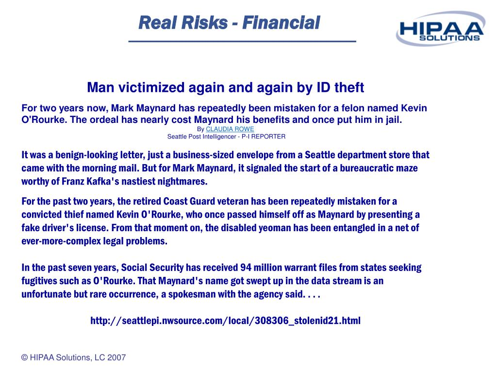 Real Risks - Financial