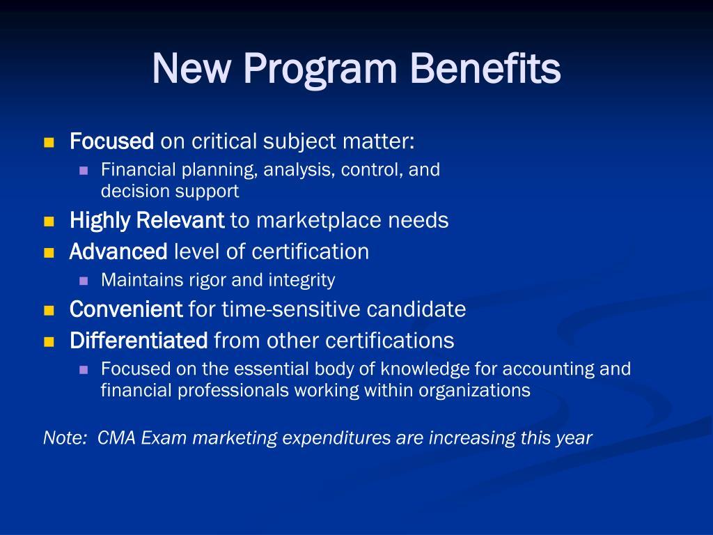 New Program Benefits