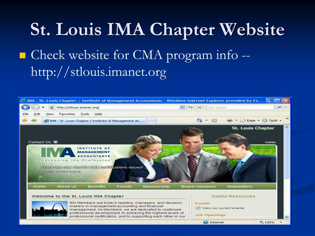 St. Louis IMA Chapter Website