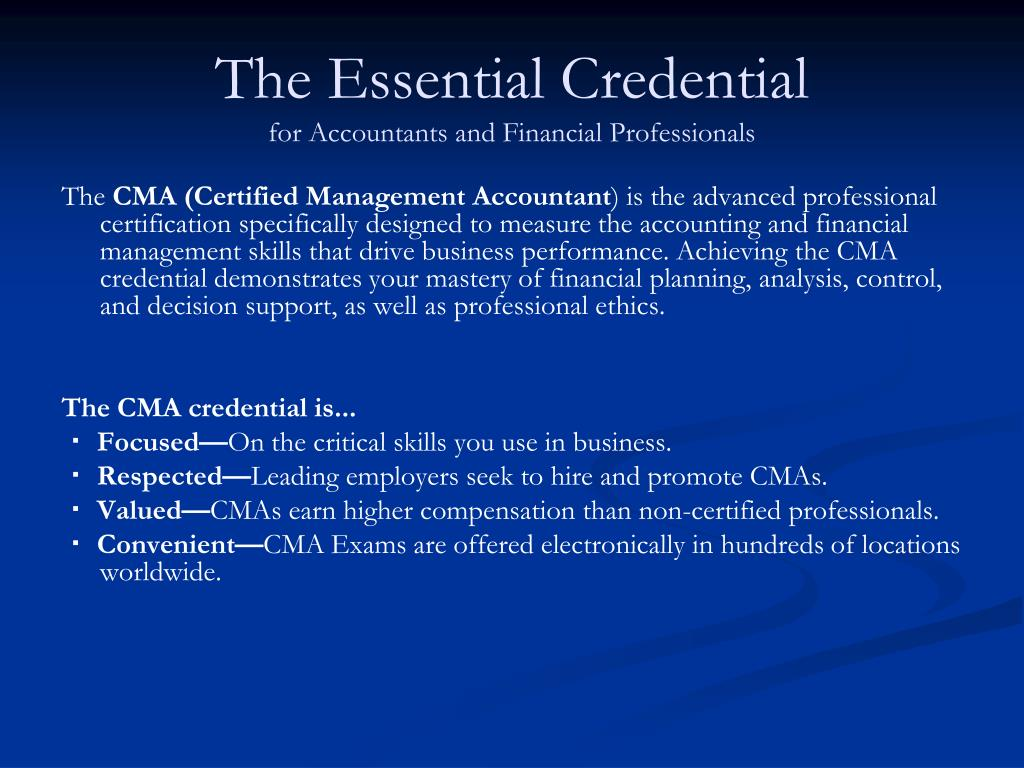 The Essential Credential