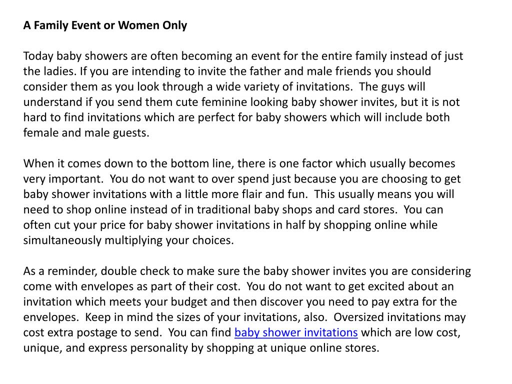 A Family Event or Women