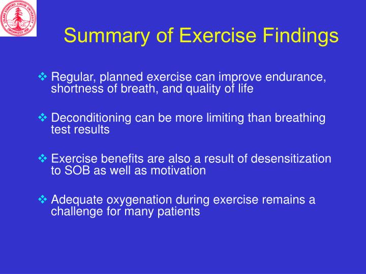 Summary of Exercise Findings