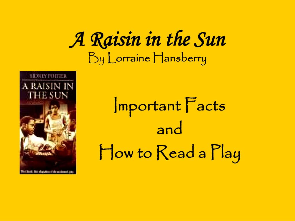 a review of lorraine hansberry a raisin in the sun 'a raisin in the sun' still a heartbreaking classic [review] denzel washington, sophie okonedo, anika noni rose and latanya richardson jackson bring lorraine hansberry to broadway one more time.