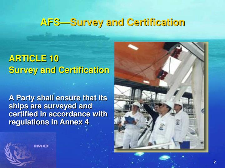 Afs survey and certification l.jpg