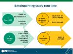 benchmarking study time line