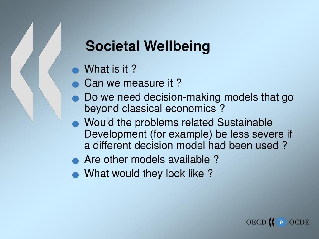 Societal Wellbeing