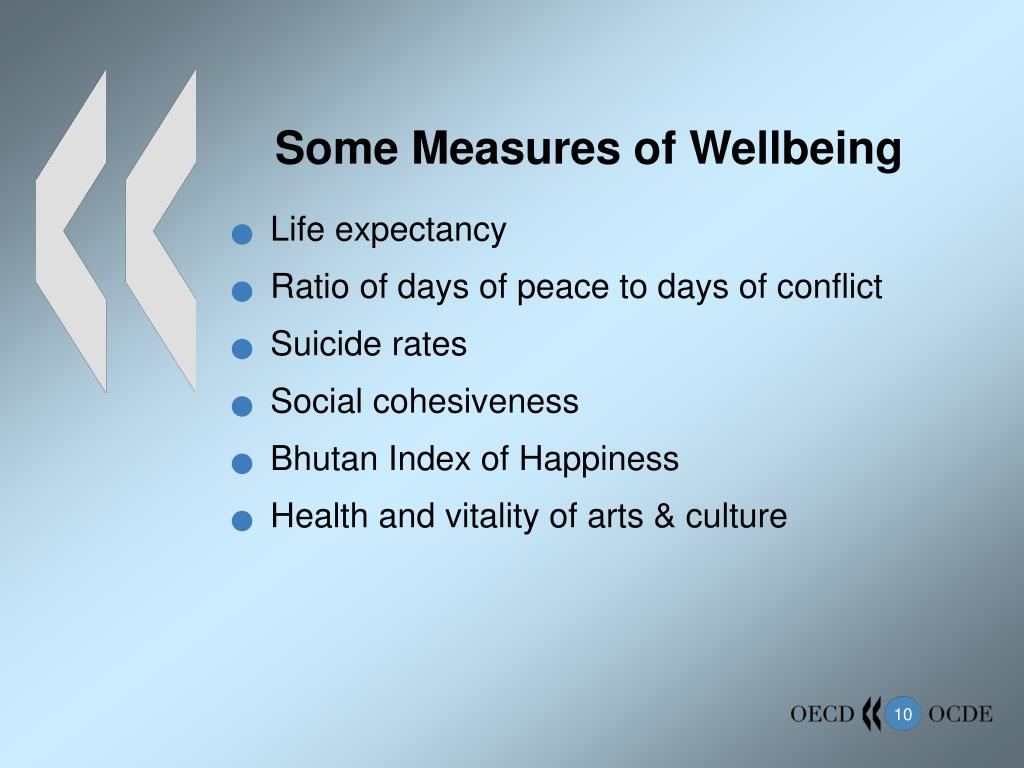 Some Measures of Wellbeing