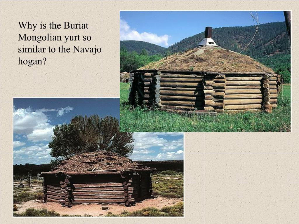Why is the Buriat Mongolian yurt so similar to the Navajo hogan?