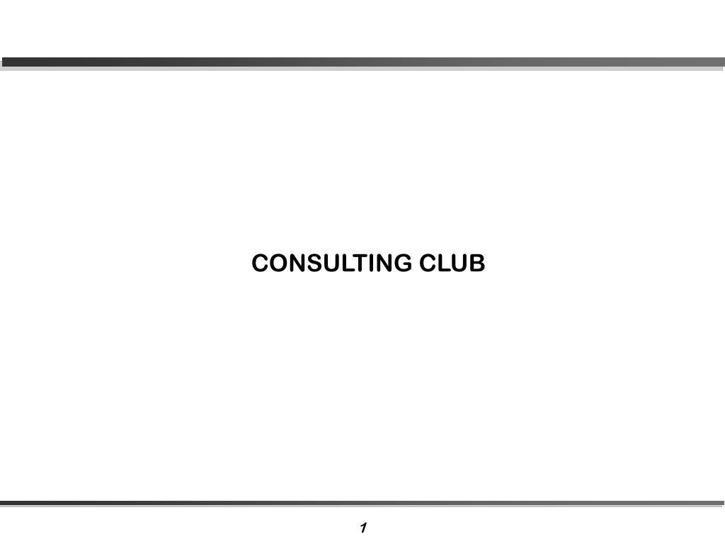 CONSULTING CLUB