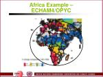africa example echam4 opyc