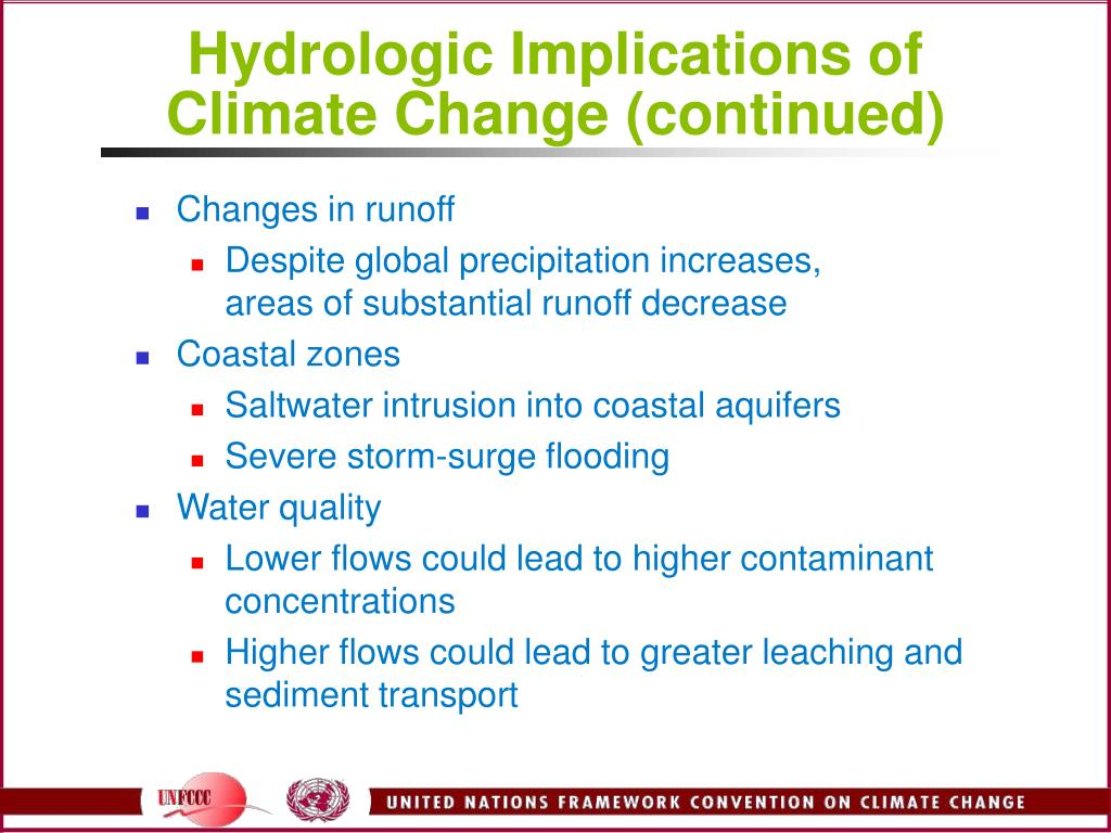 Hydrologic Implications of