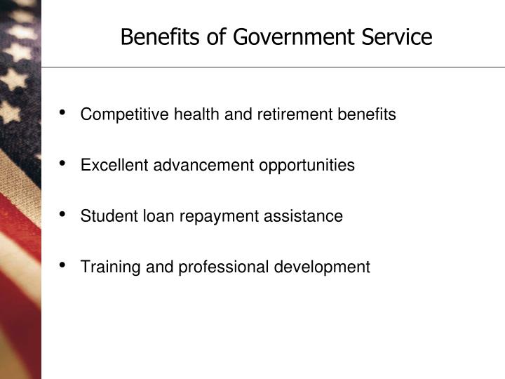 Benefits of government service3