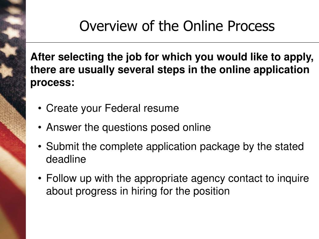 Overview of the Online Process