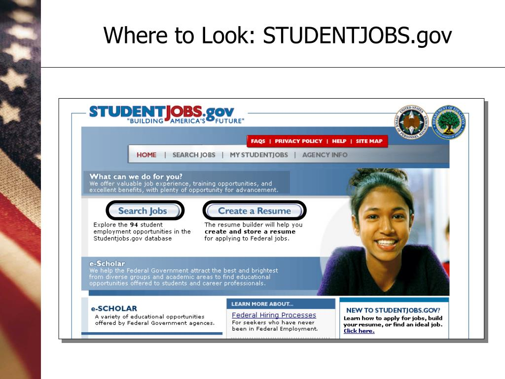 Where to Look: STUDENTJOBS.gov