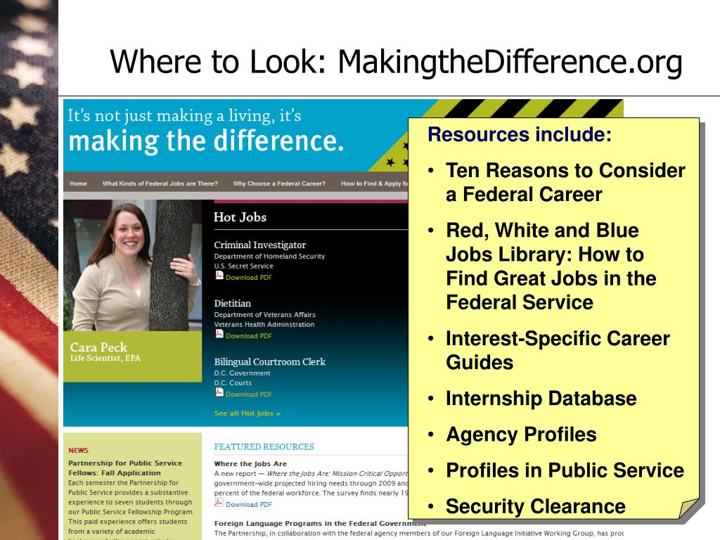 Where to Look: MakingtheDifference.org