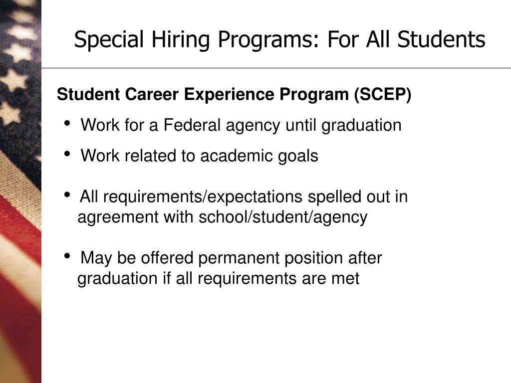 Special Hiring Programs: For All Students