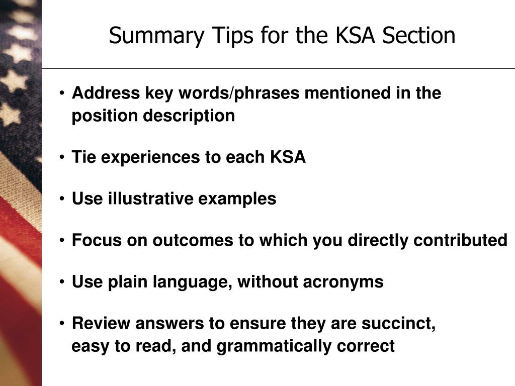 Address key words/phrases mentioned in the position description