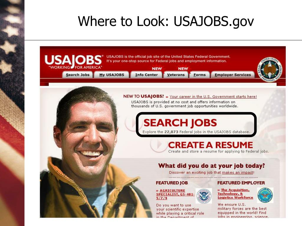 Where to Look: USAJOBS.gov
