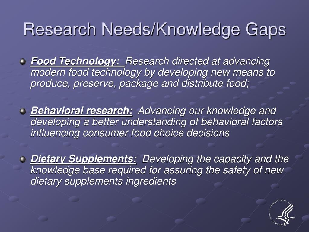 Research Needs/Knowledge Gaps