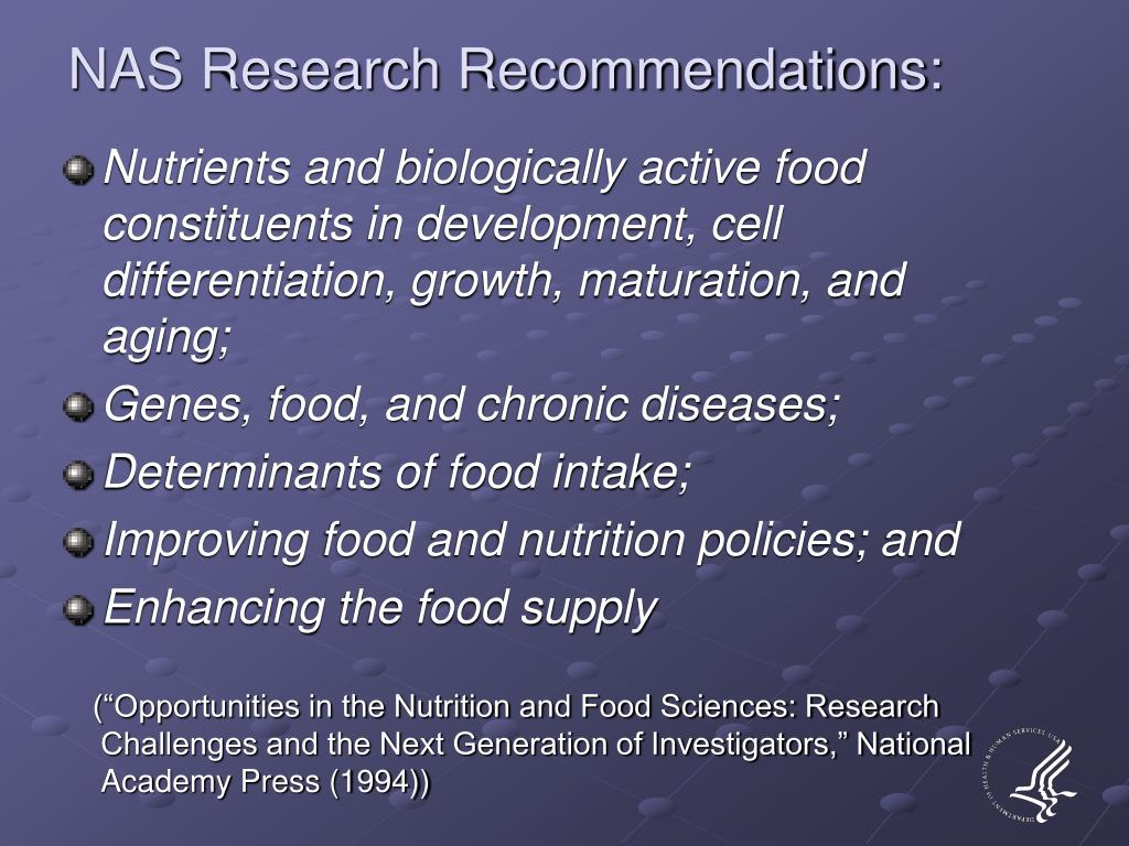 NAS Research Recommendations: