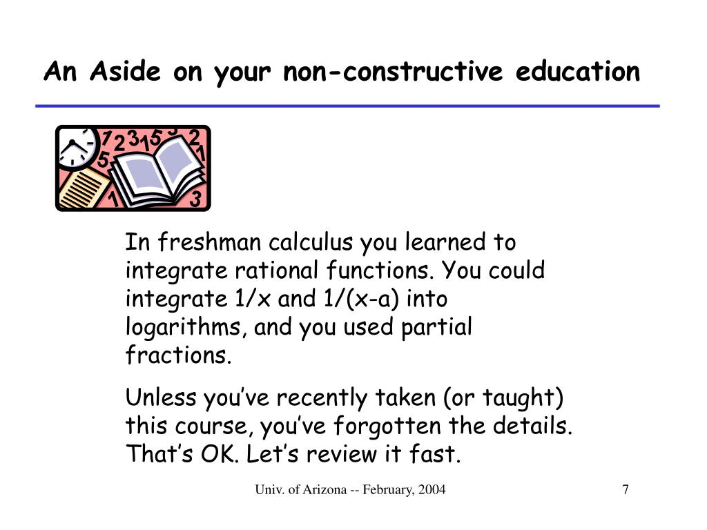An Aside on your non-constructive education