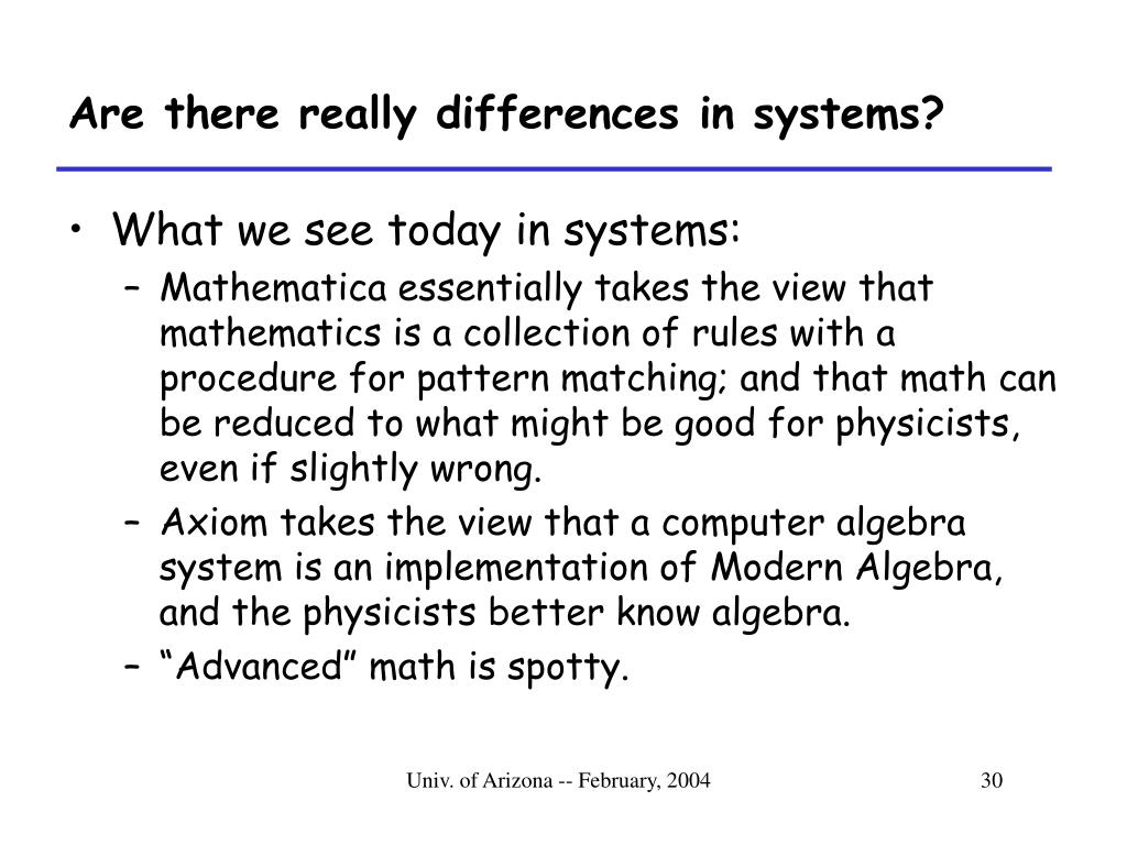 Are there really differences in systems?