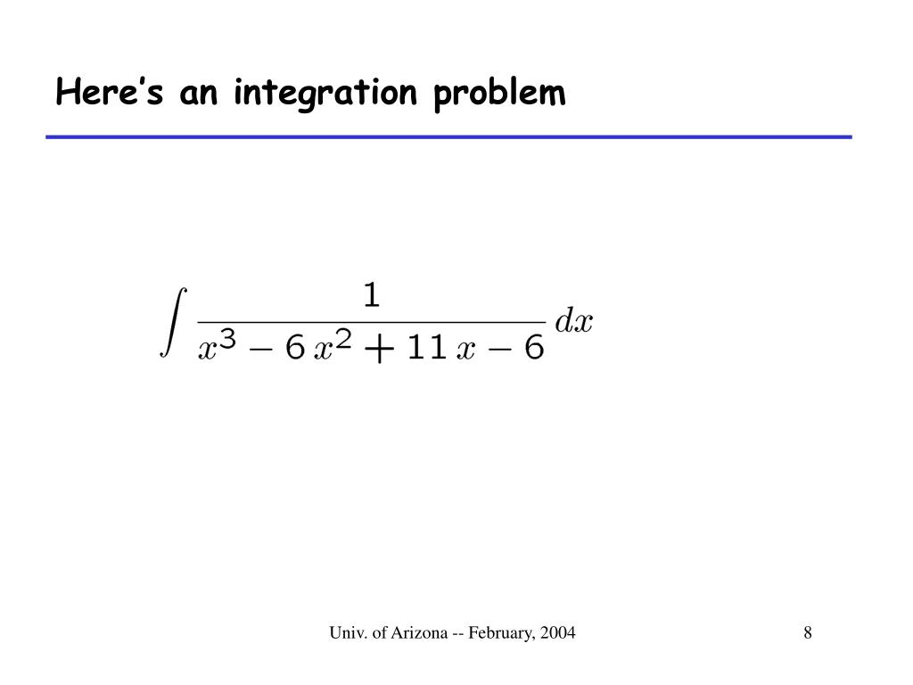 Here's an integration problem
