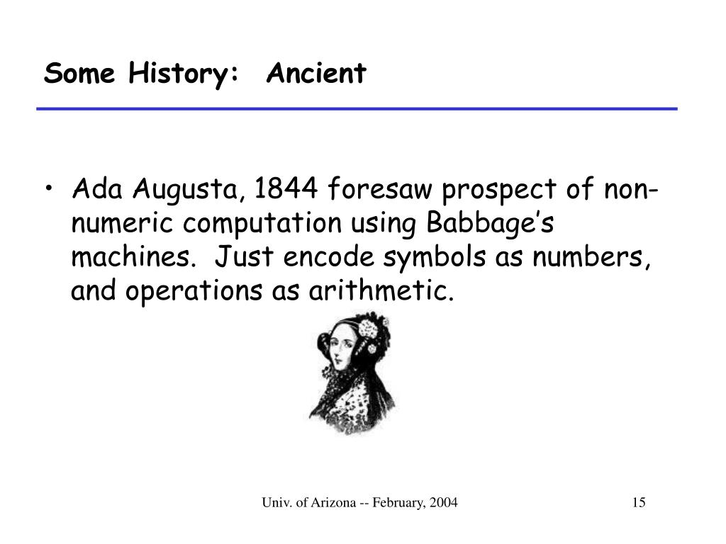 Some History:  Ancient