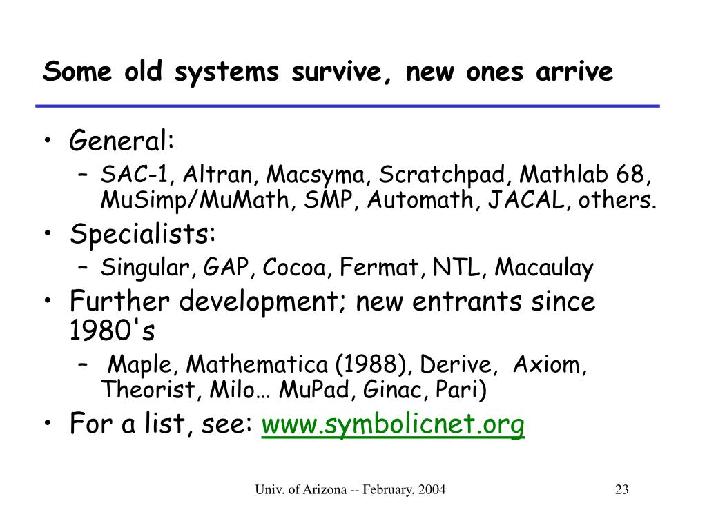 Some old systems survive, new ones arrive