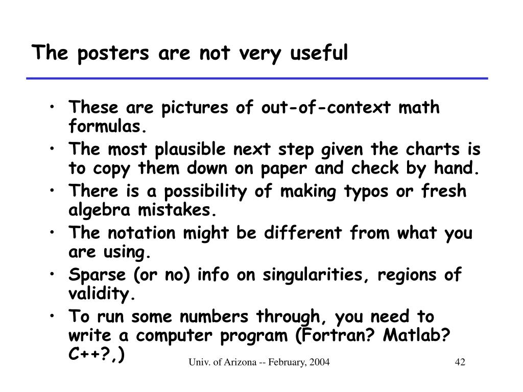 The posters are not very useful