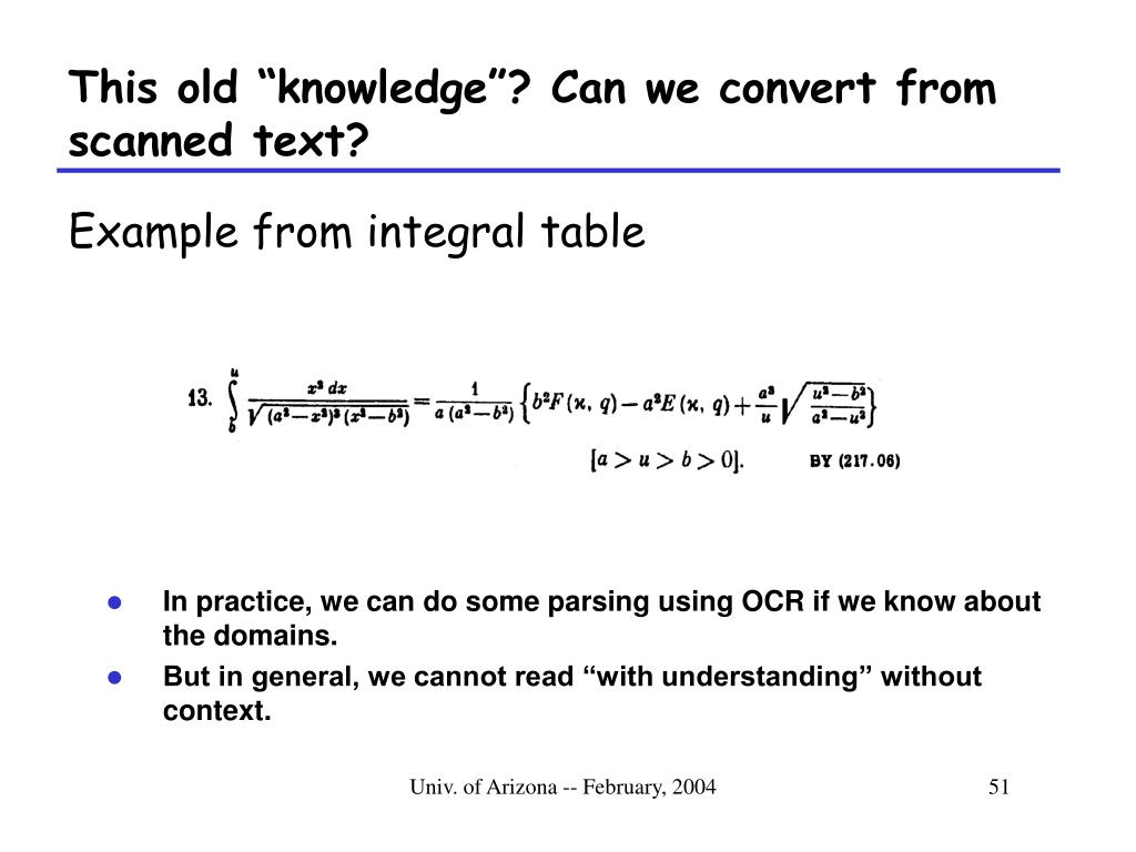 "This old ""knowledge""? Can we convert from scanned text?"