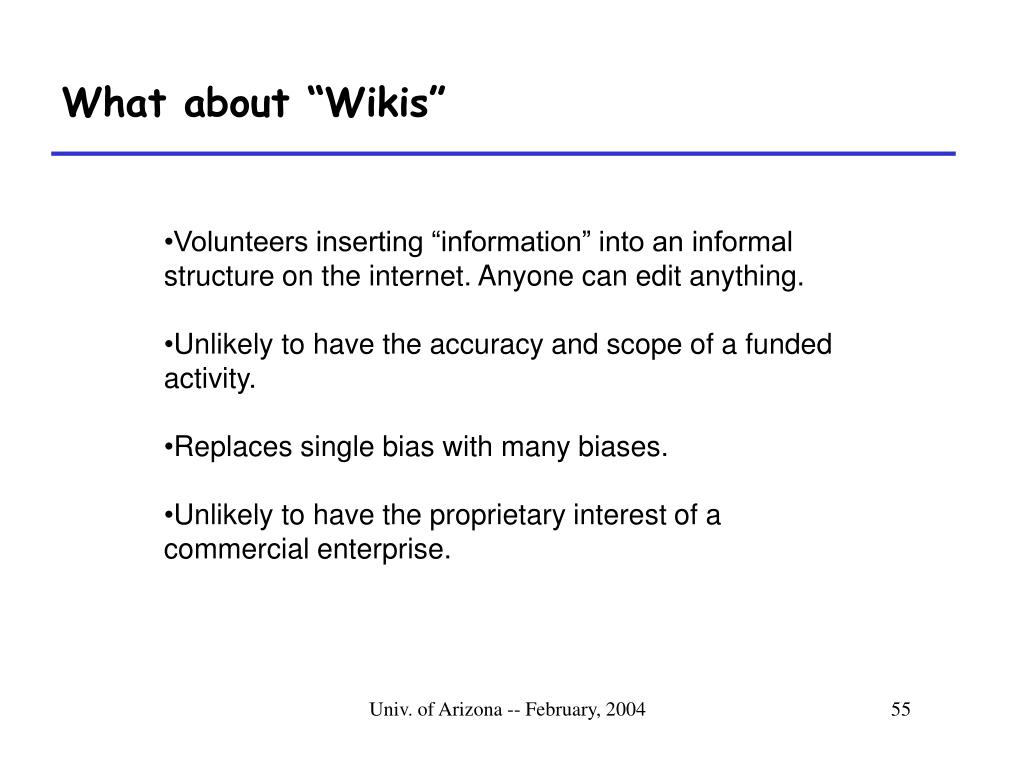 """What about """"Wikis"""""""