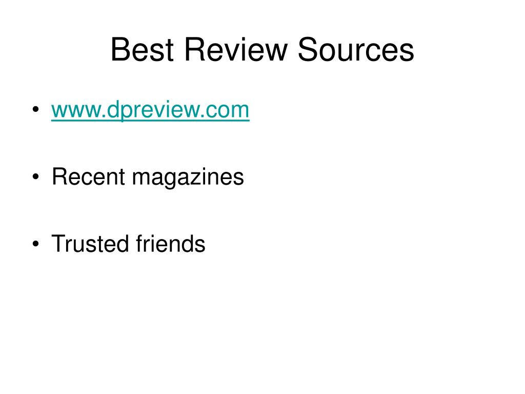 Best Review Sources