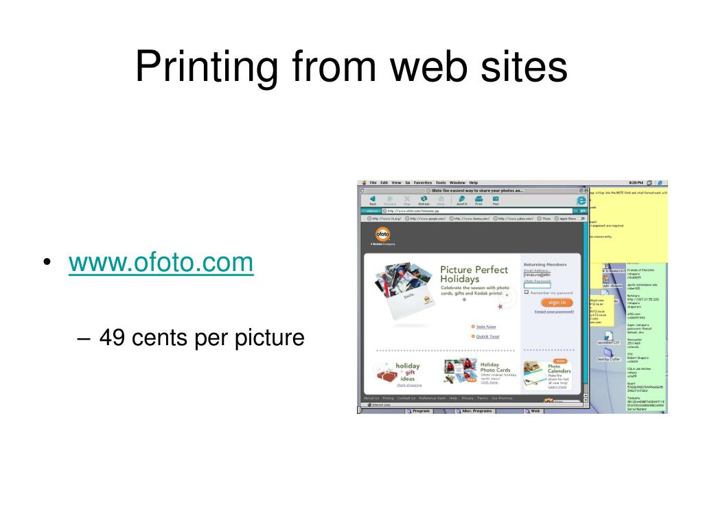 Printing from web sites