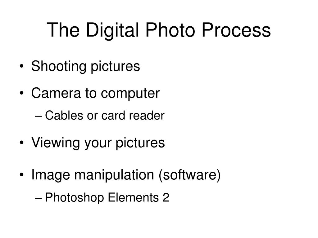 The Digital Photo Process