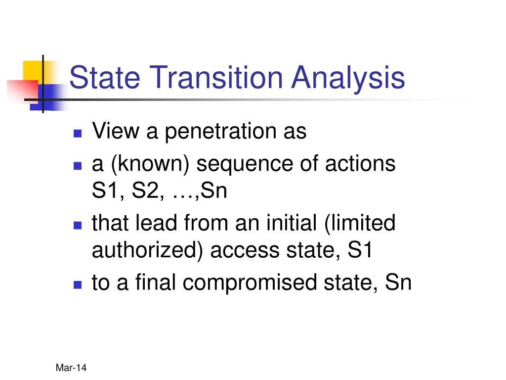 State Transition Analysis
