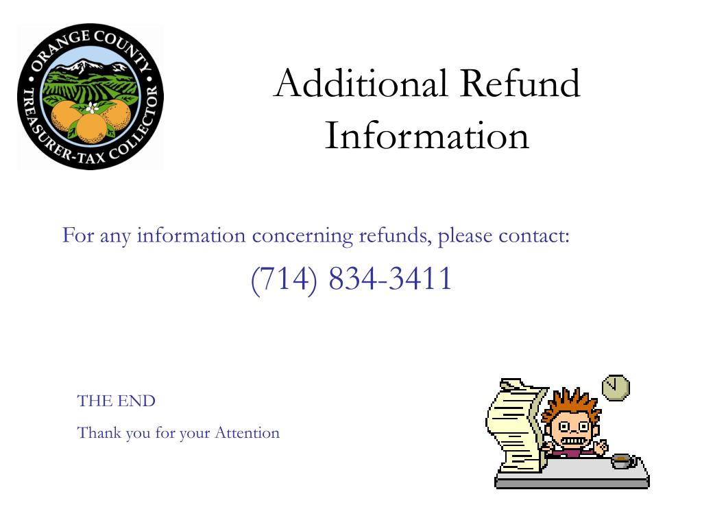 Additional Refund Information