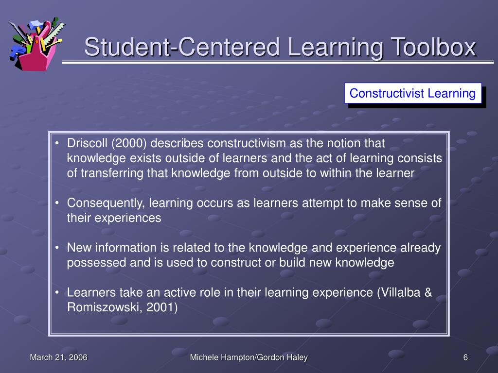 Student-Centered Learning Toolbox