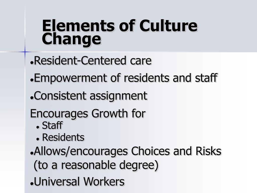 Elements of Culture Change