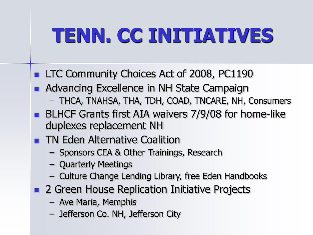 TENN. CC INITIATIVES