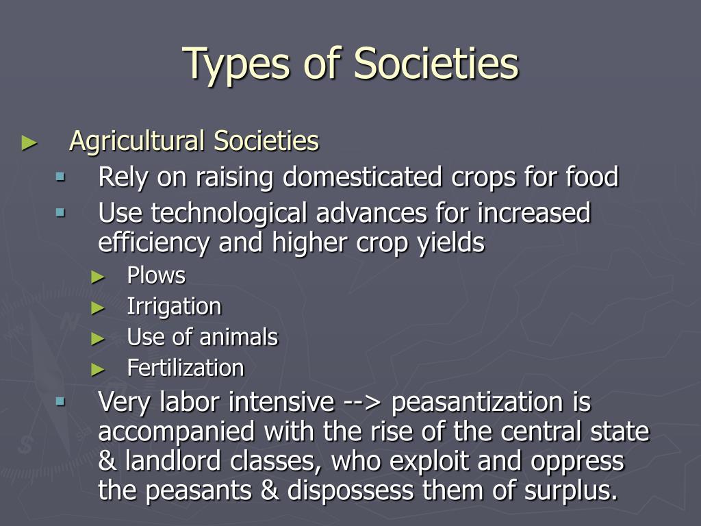 types of societies
