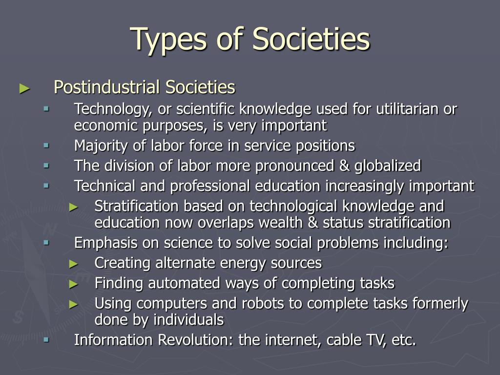 types in societies