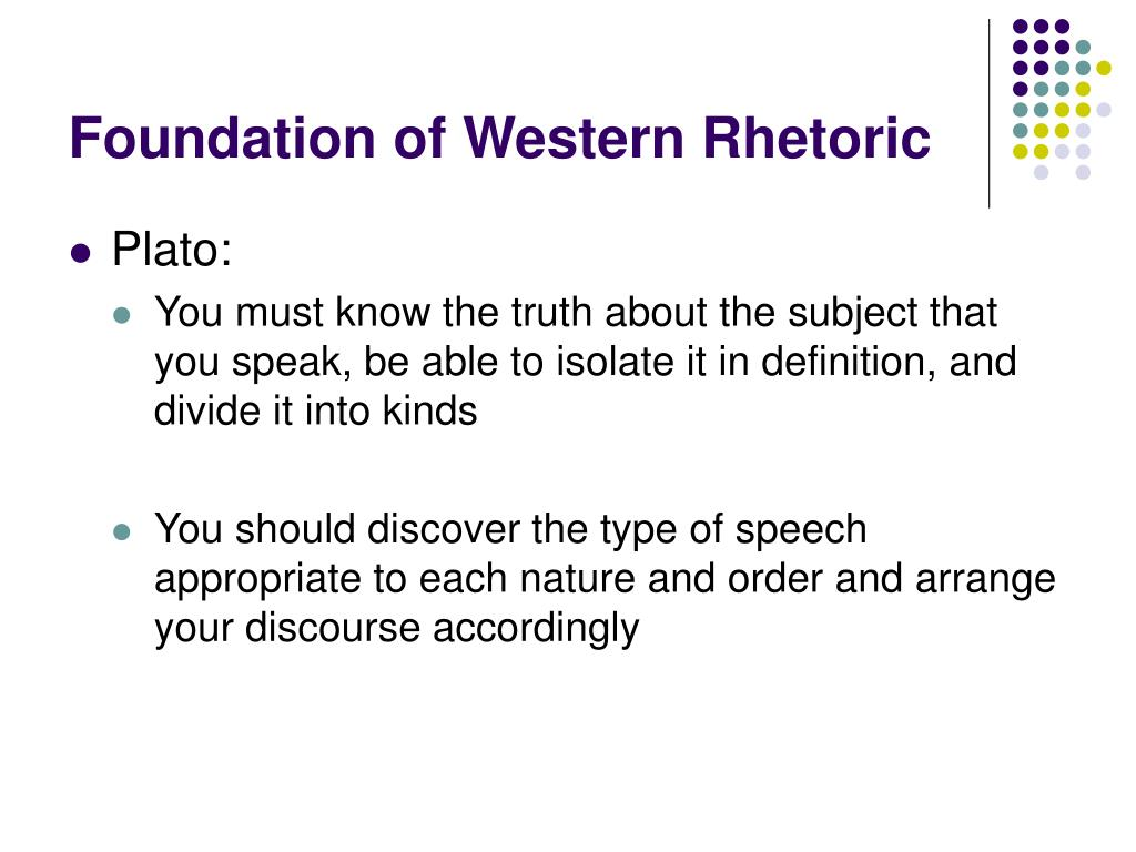 Foundation of Western Rhetoric