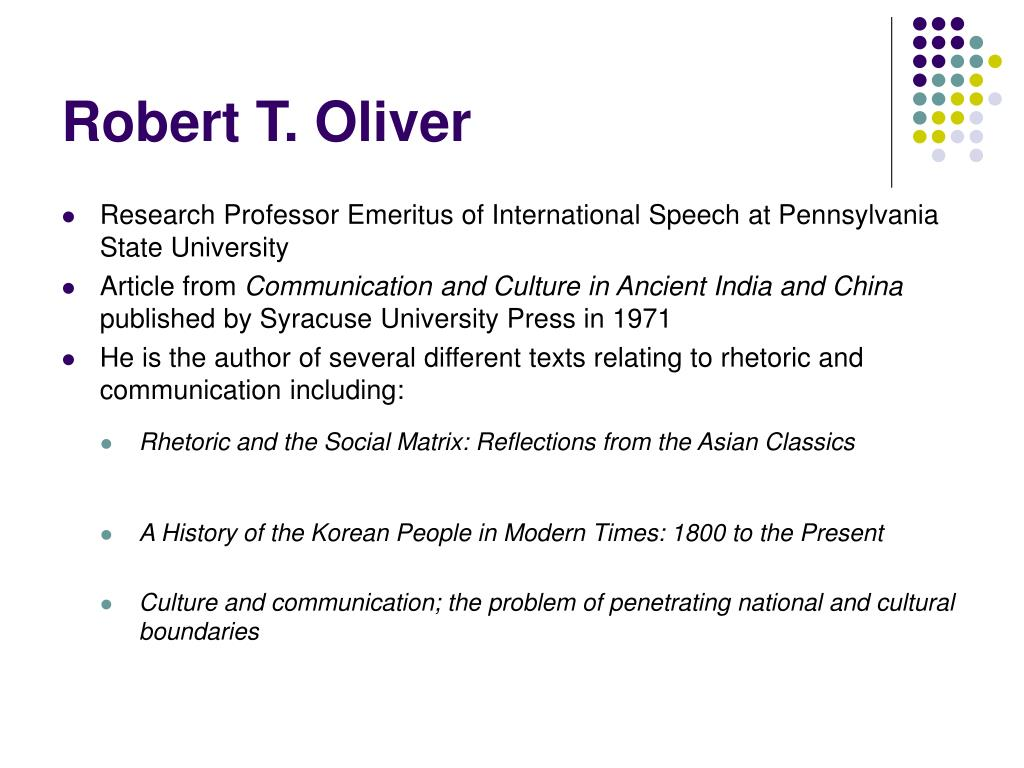 Robert T. Oliver