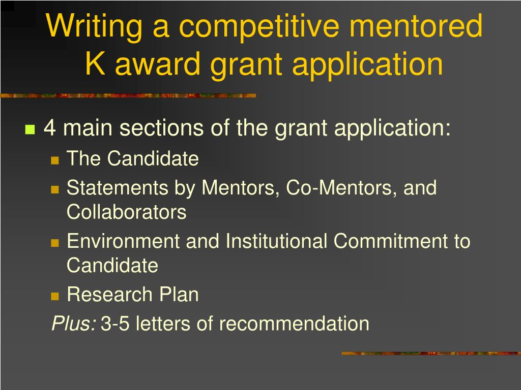 Writing a competitive mentored