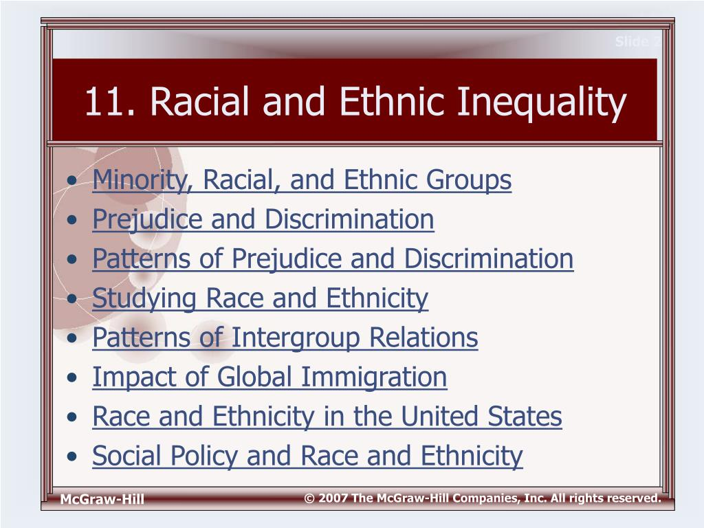Racial and ethnic inequality essay