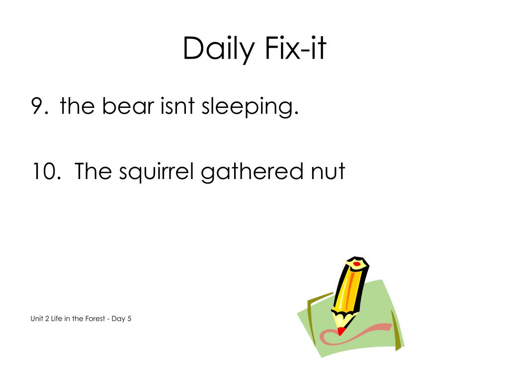 Daily Fix-it