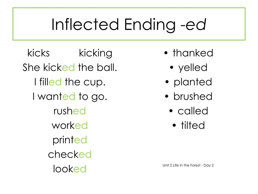 Inflected Ending -