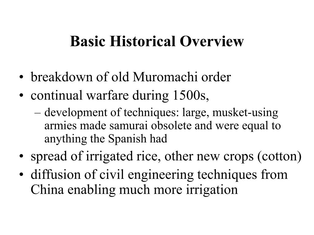 Basic Historical Overview